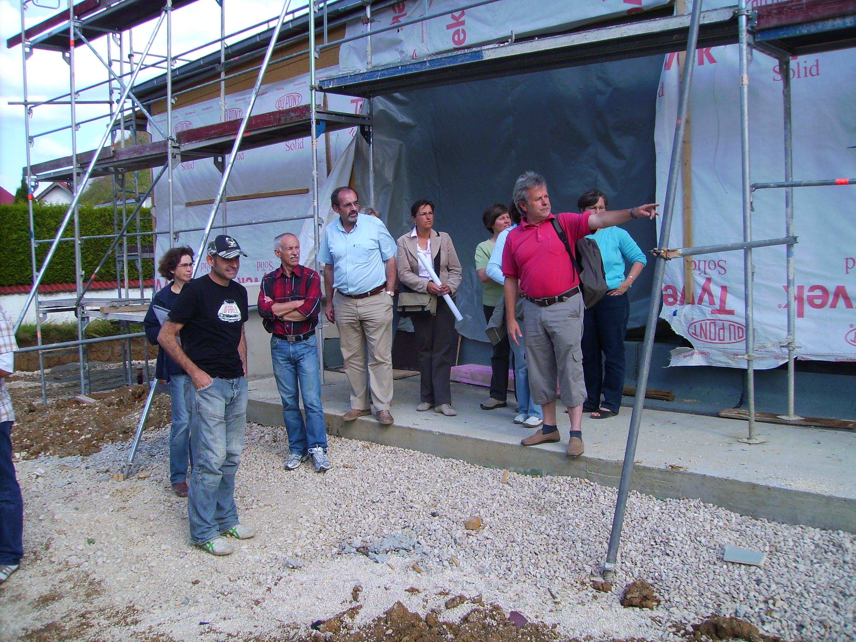 Baustellenbesichtigung am 12.06.2009