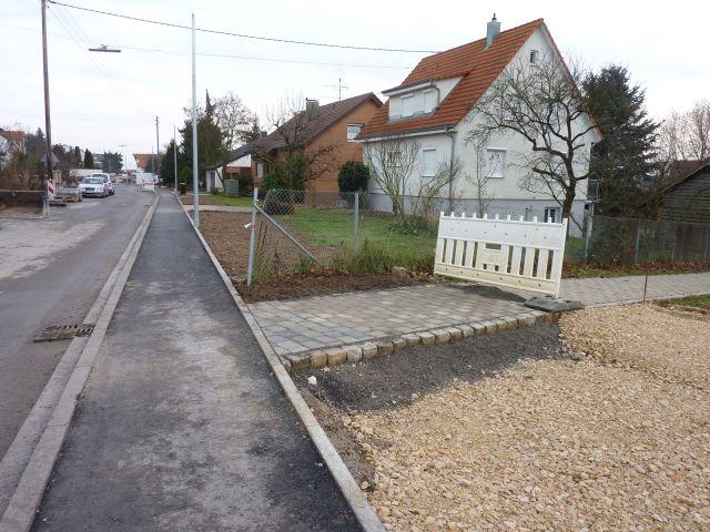 Anschlussarbeiten zu den Privatgrundstücken