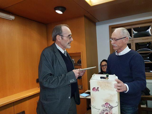 Friedrich Dürr mit Bürgermeister Edelmann